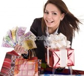 dep_2265959-Business-woman-with-money-gift--box