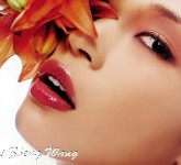 cute,pretty_face,red_lips,Hai_Zheng_Wang_Wallpaper_JxHy