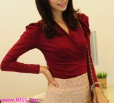 shirring_v_neck_wrap-around_top_t_shirt_blouse_-_dark_red_wine_wrap_style_t_shirt_female_sml_blouse_b5015ae2