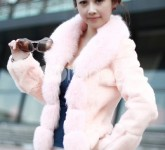 fashion-orange-korea-japan-ladies-wonderful-fur-coat