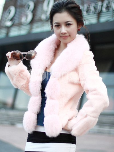 fashion-orange-korea-japan-ladies-wonderful-fur-coat