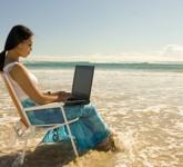 bigstockphoto_Woman_Working_Outdoor_106623