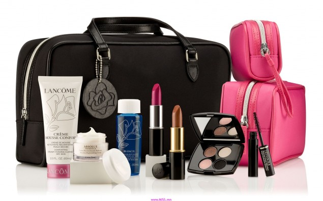Lancome-cosmetics-facials-make-up-bag