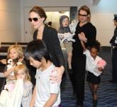Brangelina Family Leaves TokyoBrad Pitt, Angelina Jolie and family leave Tokyo