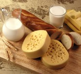 cheese-milk-jug-cup-bread-loaf-board-stickers-oil-dairy-products