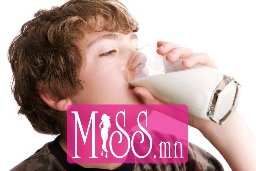 Drinking milk