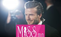 Former England soccer captain David Beckham attends the world premier of the film